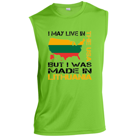 Made in Lithuania -- Guys Sleeveless Dri-Fit Performance