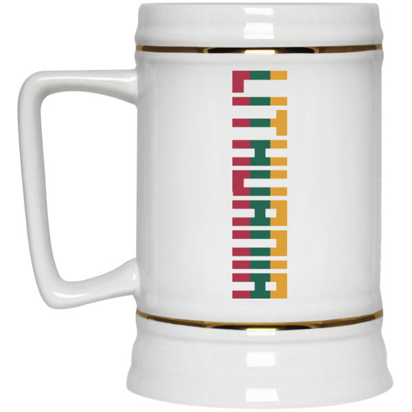 Lithuania Vertical -- Ceramic Stein