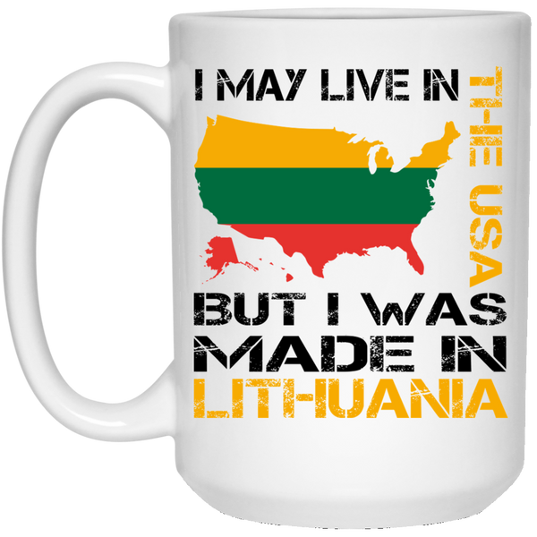 Made in Lithuania 15 oz. White Mug