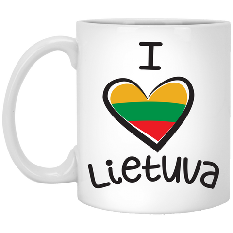 I Love Lietuva - Lithuania Strong Collection 11 oz. White Mug