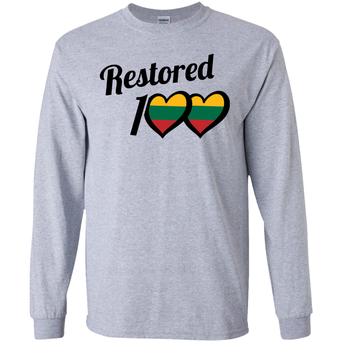 Restored 100 (100 Love) -- Vyrams Long Sleeve T-Shirt