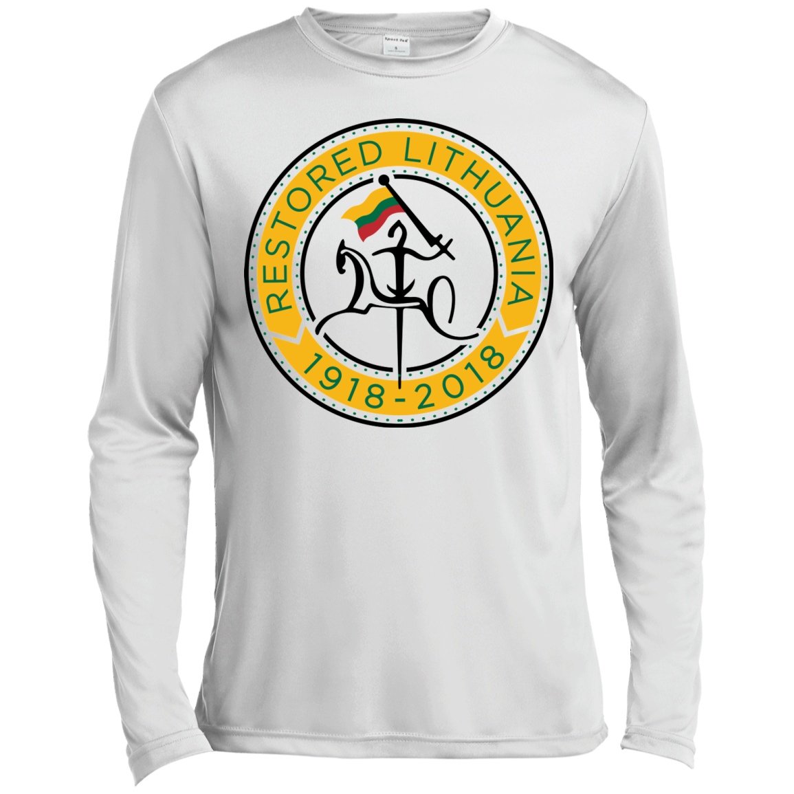 Restored 100 (Vytis Yellow Circle) -- Vyrams Moisture Absorbing Long Sleeve