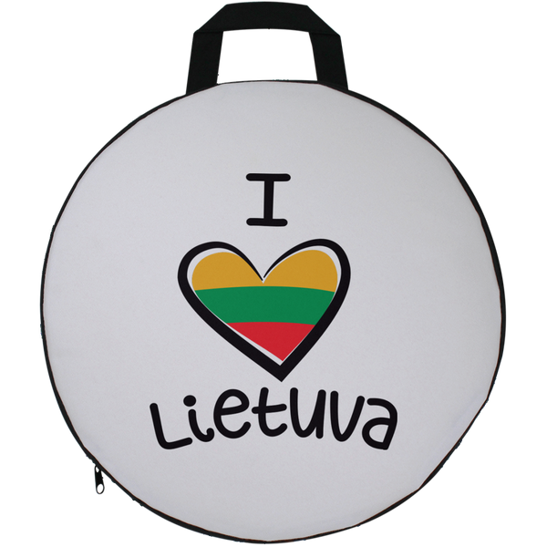 I Love Lietuva -- Round Seat Cushion
