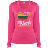 Made in Lithuania -- Gals Heather Dri-Fit V-Neck Performance