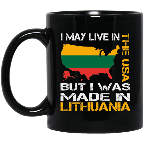 Made in Lithuania - Lithuania Strong Collection 11 oz. Black Mug