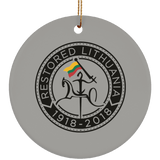 Restored 1918-2018 Ornament - Ceramic Circle Ornament