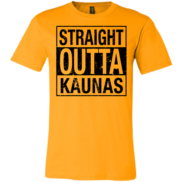 Outta Kaunas -- Bella+Canvas Guys/Gals Short-Sleeve Tee T-Shirt