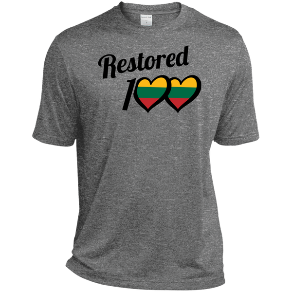 Restored 100 (100 Love) -- Vyrams Tall Heather Dri-Fit Moisture-Wicking