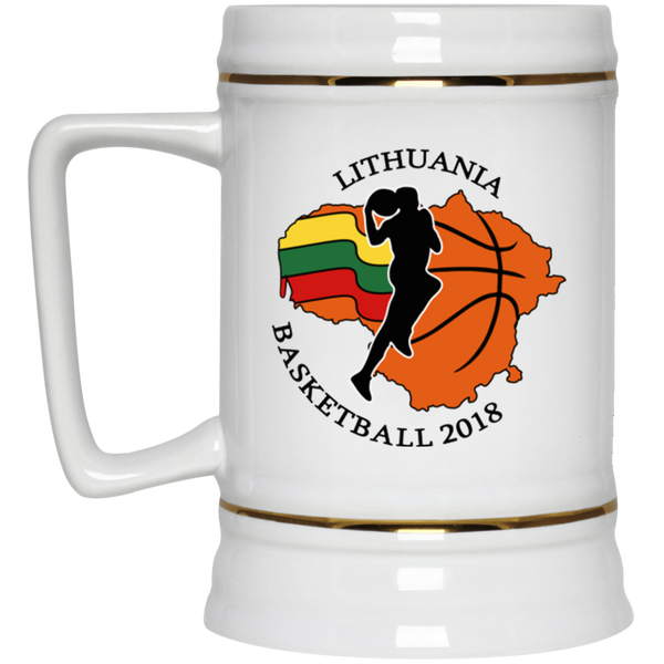Lithuania Basketball 2018 -- Ceramic Stein