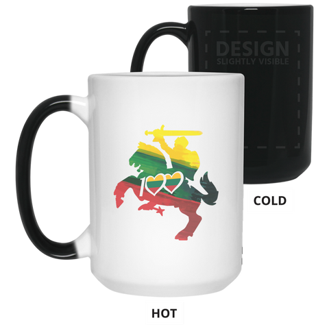 Horse Knight 100 - Lithuania Strong Collection 15 oz. Color Changing Mug