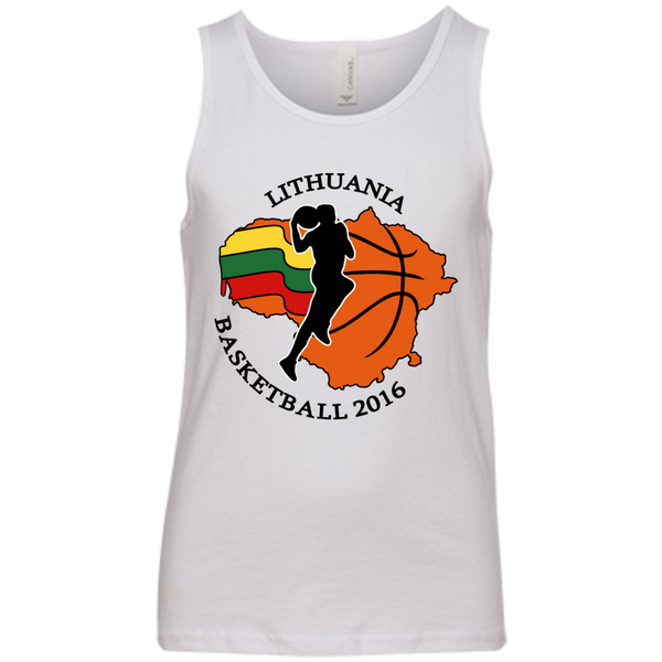 Lithuania Basketball 2106 -- Youth Boys/Girls Bella+Canvas Youth Tank Top