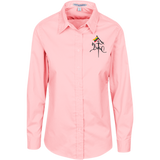 Vytis w/ Flag -- Gals Long Sleeve Button-Down