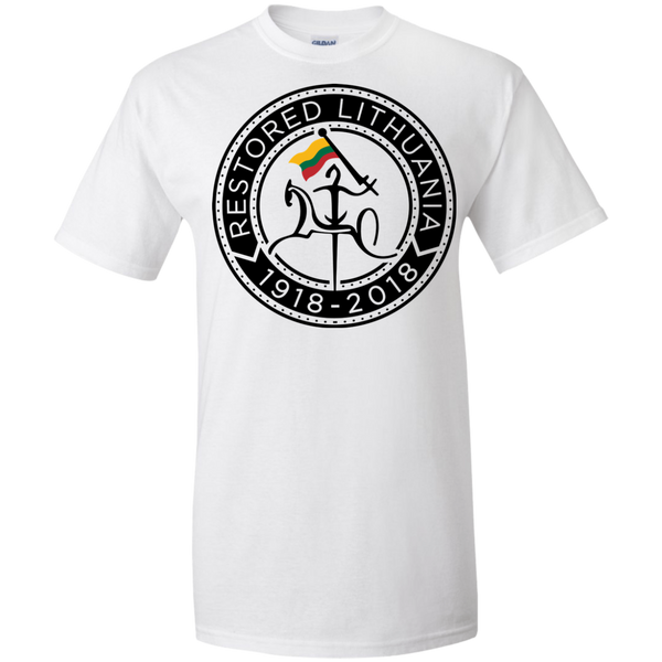 Restored 100 (Vytis Black Circle) -- Vyrams Tall T-Shirt