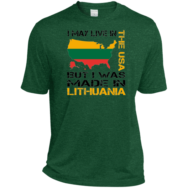 Made in Lithuania -- Guys Heather Dri-Fit Moisture-Wicking