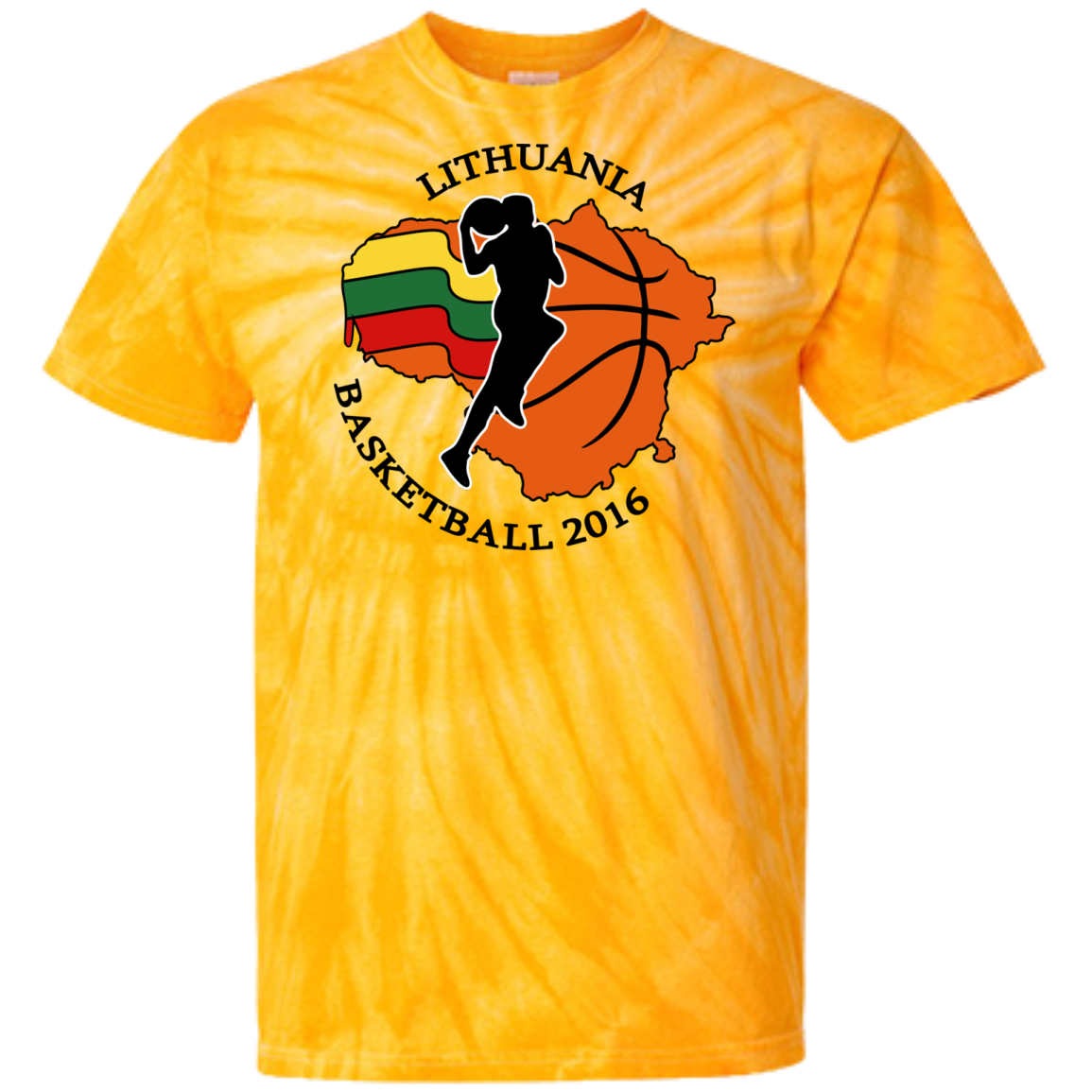 Lithuania Basketball 2106 -- Guys/Gals Tie Dye