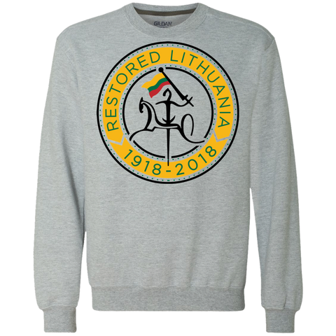 Restored 100 (Vytis Yellow Circle) -- Vyrams/Moterims Heavyweight Sweatshirt