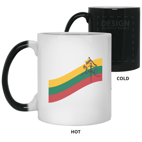 Vytis Flag Banner - Lithuania Strong Collection 11 oz. Color Changing Mug