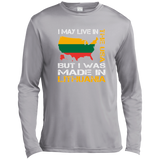 Made in Lithuania -- Guys Tall Long Sleeve Dri-Fit Moisture Absorbing Performance