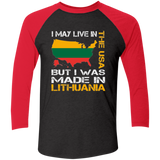 Made in Lithuania -- Guys/Gals 3/4 Sleeve Soft Raglan