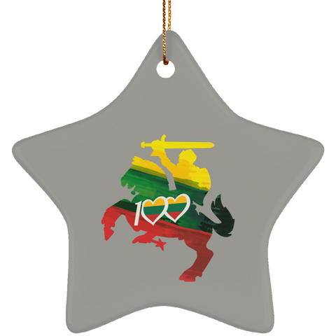 Knight 100 Ornament - Ceramic Star Ornament