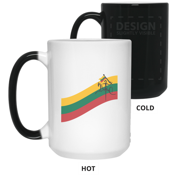 Vytis Flag Banner - Lithuania Strong Collection 15 oz. Color Changing Mug