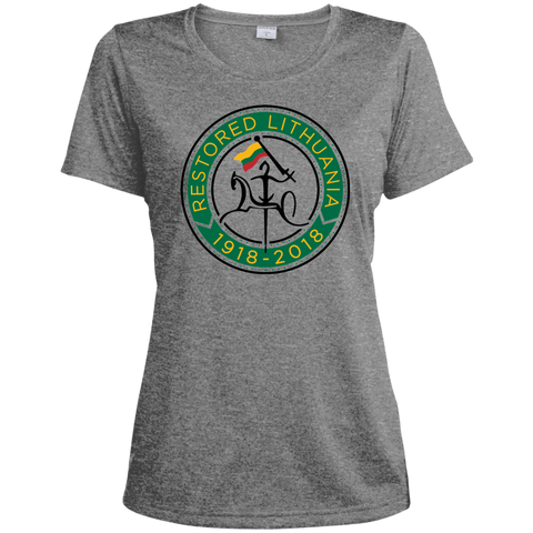 Restored 100 (Vytis Green Circle) -- Moterims Heather Dri-Fit Moisture-Wicking T-Shirt