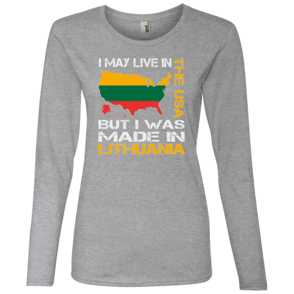 Made in Lithuania -- Gals Lightweight Long Sleeve T