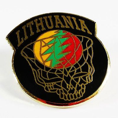 '96 Olympics Pin Lithuania Basketball Grateful Dead Inspired