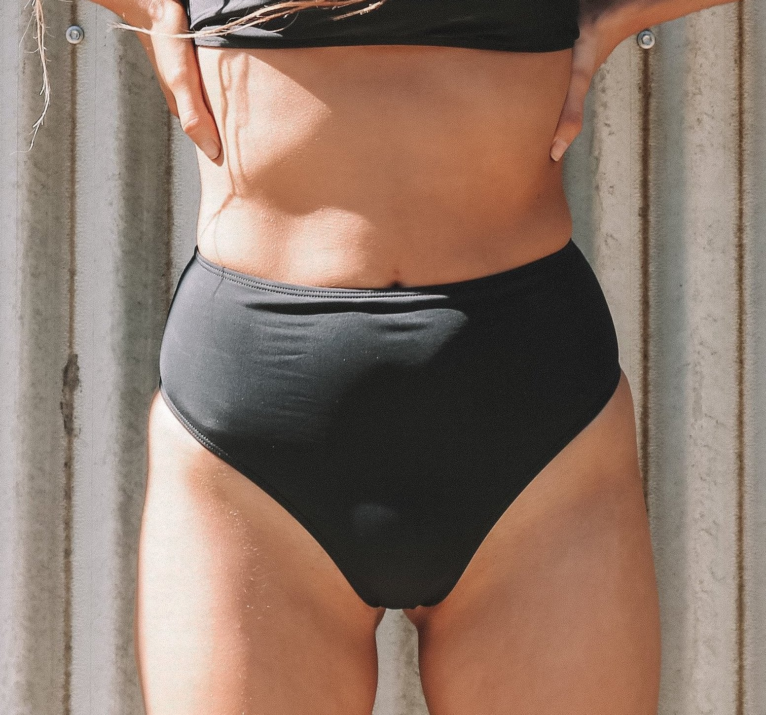 Ossix Essential Elements | High N Waisted brief | Pitch Black