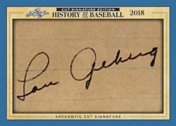 2018 Leaf History of Baseball Cut Signature (5-Box) LAST NAME LETTER BREAK #5