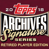 2018 Topps Archives Signature Series Baseball: Retired Players Edition RPC #1