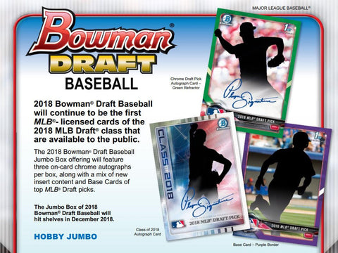 2018 BOWMAN DRAFT JUMBO HOBBY BOX