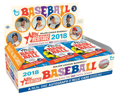2018 Topps Heritage Baseball Hobby Box (Presell 2/28 release) FIRST OHTANI AUTOS!!!