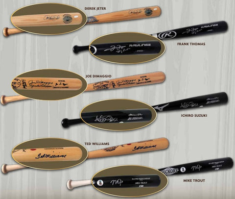 2020 LEAF FULL-SIZE Autographed Baseball Bats (2-BOXES) RT #7