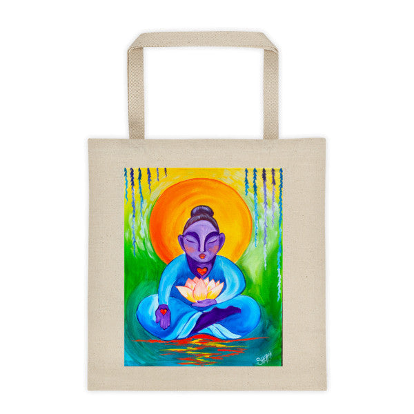 Budda and Lotus Tote bag