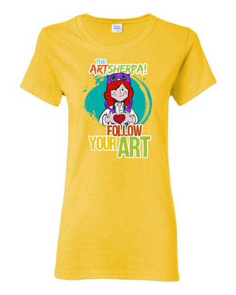 FOLLOW YOUR ART Women's short sleeve t-shirt