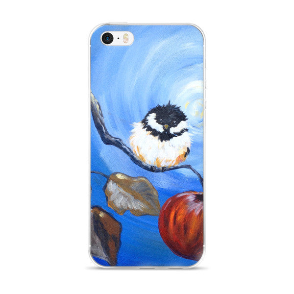 Cheerful Chickadee iPhone case
