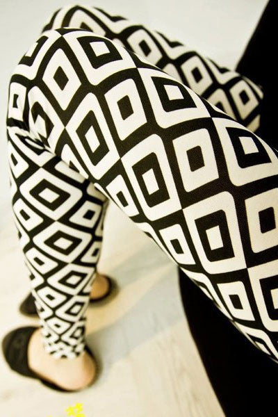 Double Checker Pencil Leggings - Jahnell's Closet