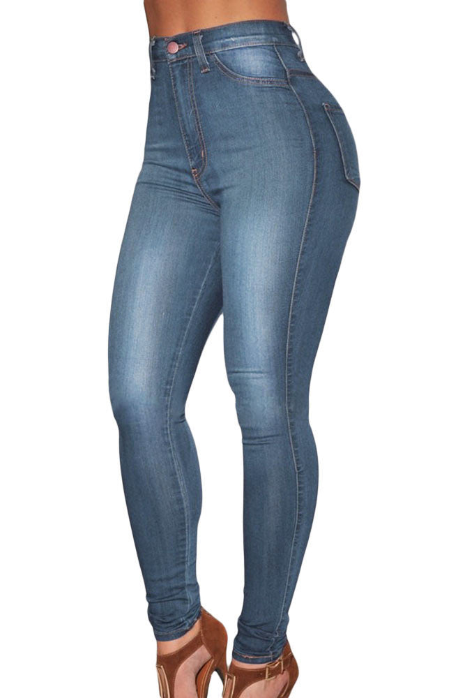 Dark Wash and Blue Medium Wash Denim - High-Waist Skinny Jeans - Jahnell's Closet
