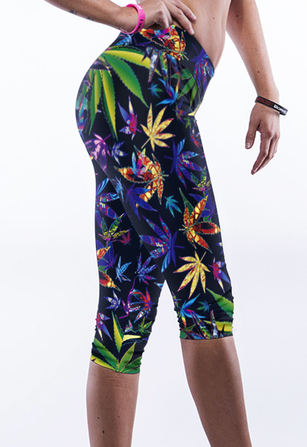 Vibrant Leaves Yoga Pants - Jahnell's Closet