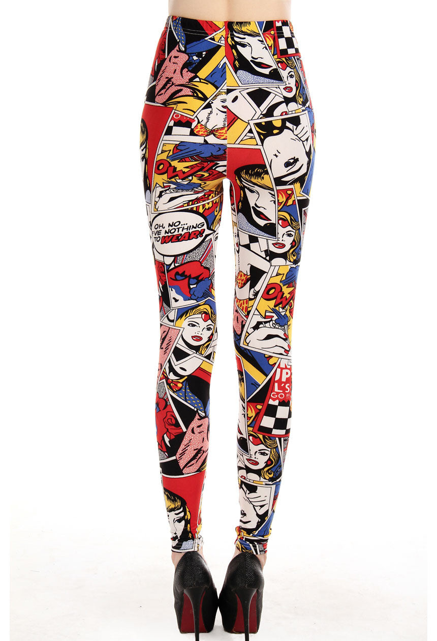 Comic Crazy Leggings - Jahnell's Closet