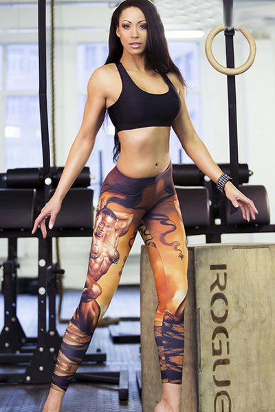 Muscle Warrior Stretch Yoga Leggings - Jahnell's Closet
