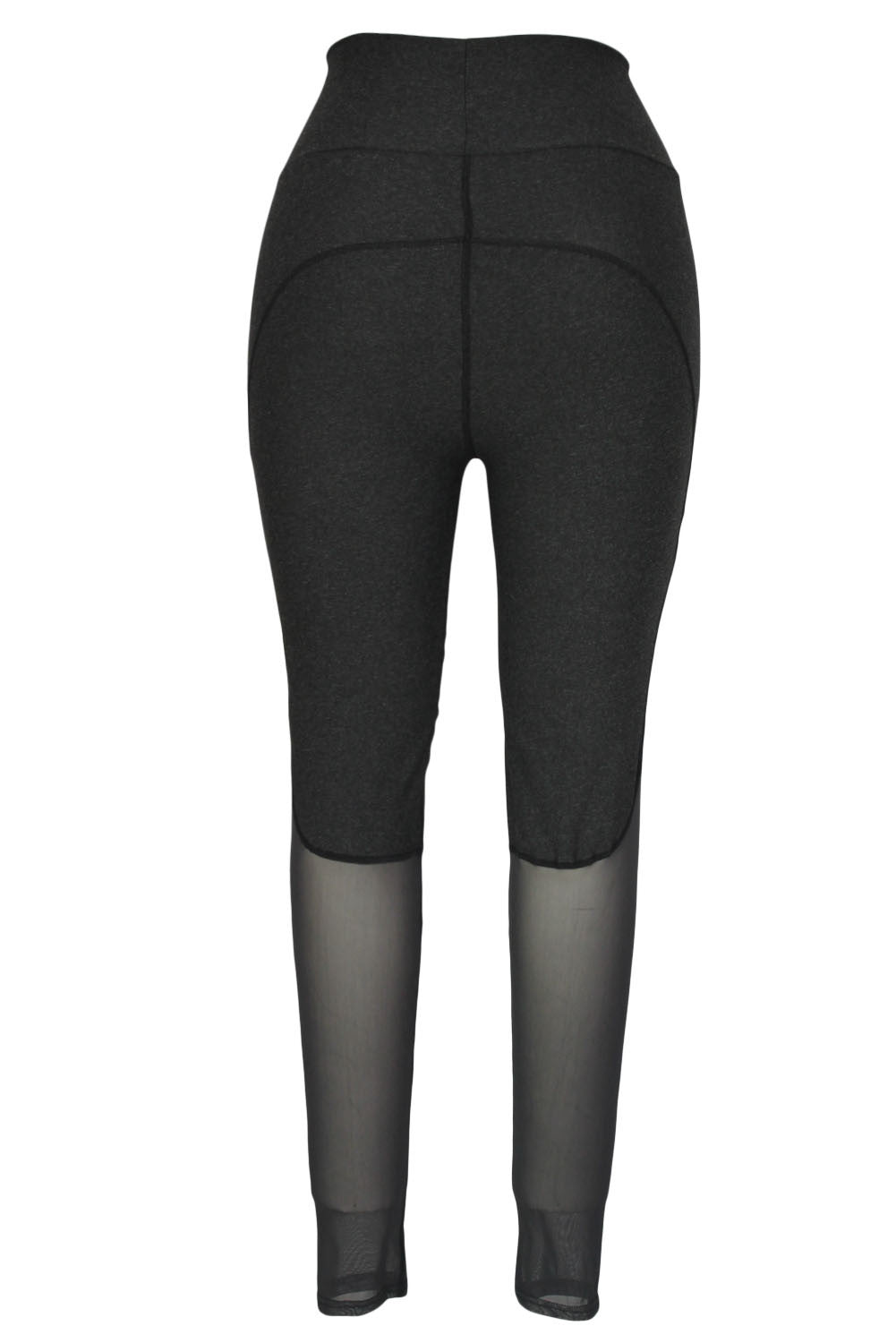 Grey Slimming Effect Sport Legging with Mesh - Jahnell's Closet