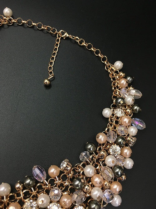 High Quality Full Crystal Pearl Necklace