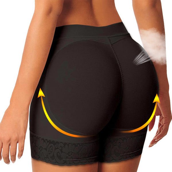 Black Push Up Seamless Control Panties - Buttock Lifter Enhancer