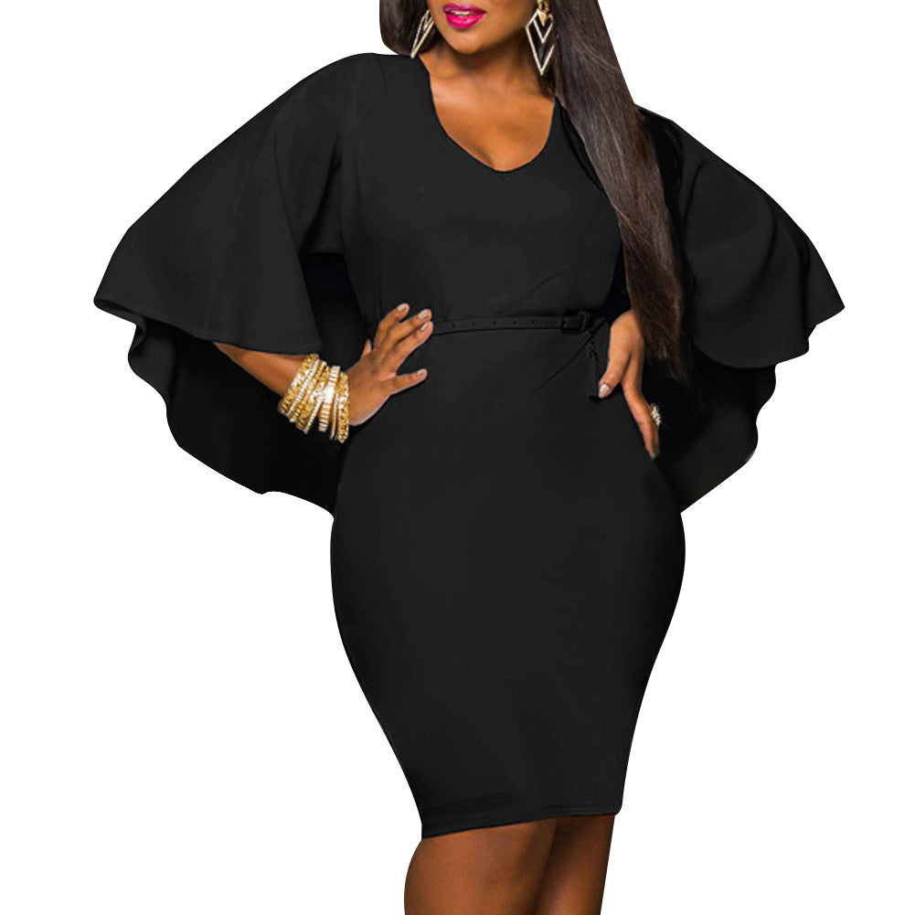 Batwing Sleeve Bodycon Dress