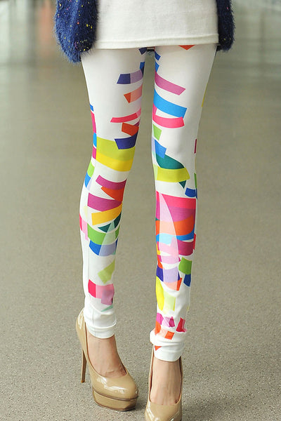 Chromatic Stripe Leggings - Jahnell's Closet