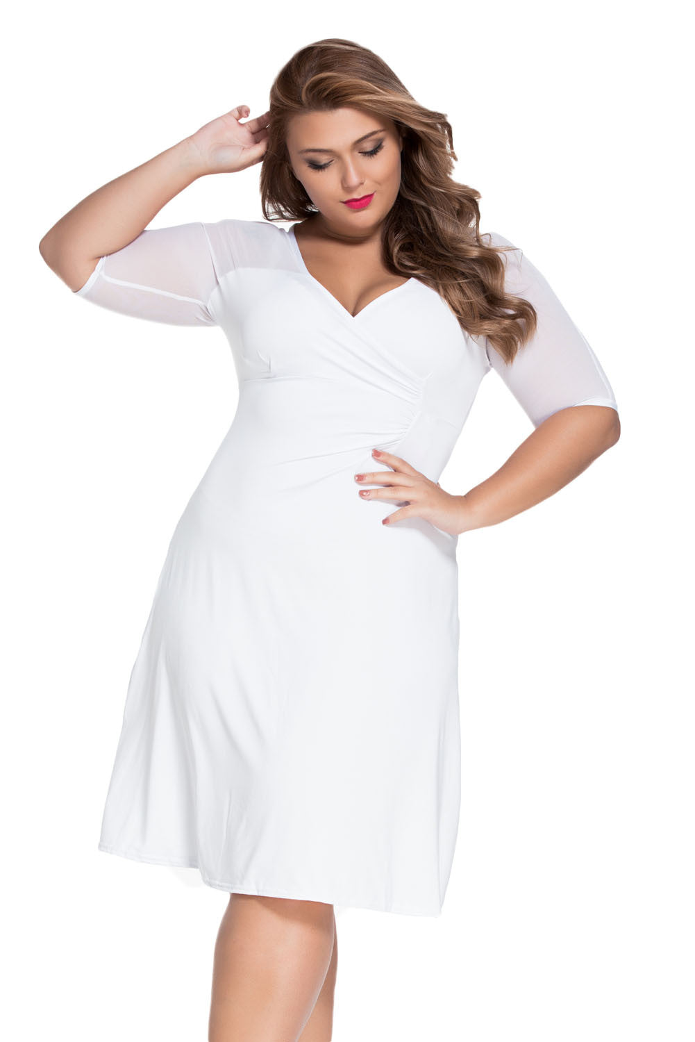 White Plus Size Sugar and Spice Dress - Jahnell's Closet