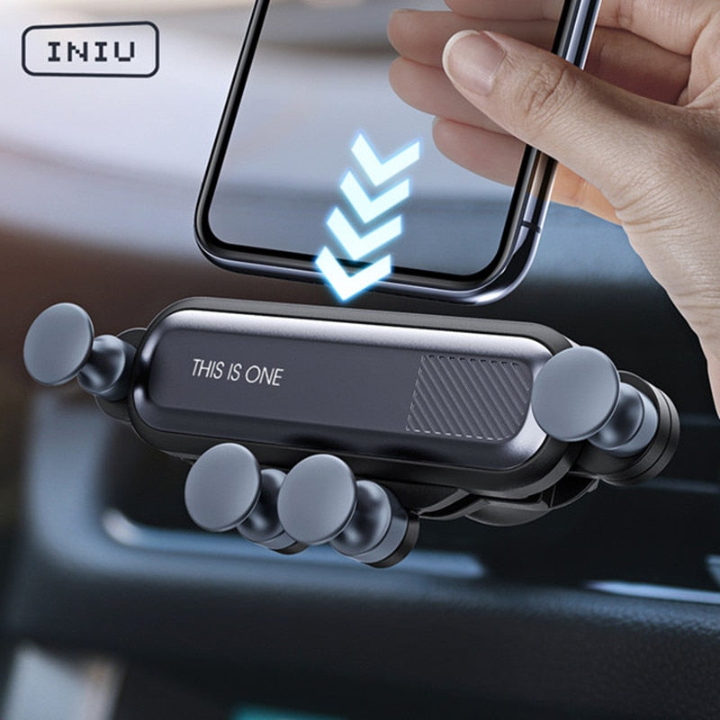 INIU Gravity Car Phone Holder Air Vent Mount Mobile Cell Stand GPS Support For iPhone 12 11 Pro Max Xr X 8 Huawei Xiaomi Samsung