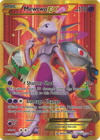 Mewtwo Ex Full Art Secret Rare - 164/162 - Ultra Rare